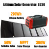 Portable Solar Power Storage with Lithiumlife 270wh Backup Power