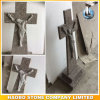 China G635 Granite Headstone Cross and Jesus Design