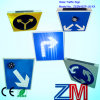 Aluminum Alloy Solar Traffic Sign / Road Sign / Flashing Warning Sign