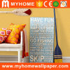 Orange Yellow Plain Design Commercial Wall Paper Washable