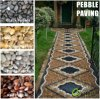 Black/Yellow/Red/White/Grey High Polished Pebble Graval Stone Paver and Paving