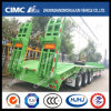 50t Green Lowbed Semi-Trailer with Concave Beam
