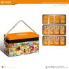 Square Metal Food Tin for Cookie and Cake (C008-V4)