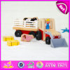 2015 Good Price Wooden Toy Car for Kid, High Quality Children Wooden Farm Car Toy, Cartoon Toy Baby Farm Car Toy Wholesale W04A146