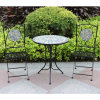 Outdoor Metal S/3 Mosaic Table Set