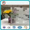Anti-Fingerprint Acid Etched Glass with Flower Design