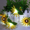 Battery Powered Sunflower Light up Flashing Christmas Fairy Rope Light
