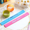 Customized Printed Logo Silicone Slap Wristband for Gifts (XY-SW-011)