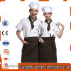 Blend of Cotton and Polyester Chef Uniform with Short Sleeve