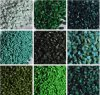 Green Pigment Color Masterbatch with Shine Color High Dispersion Plastic Bags Bottles