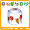 Food Packaging Hexagonal Tea Tin Box, Tea Caddy Tins