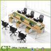 Linear Office Workstation for 6 Person Cluster