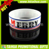 Custom Design Debossed Ink Filled 1inch Silicone Bracelet (TH-band010)