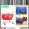 Supermarket Plastic Shopping Trolley Cart for American Market