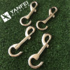 Solid Brass Fixed Eye Boat Snap Hooks