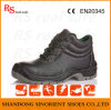 Smooth Leather Middle Cut Safety Shoes Work Shoes (SNF5249)