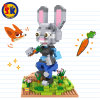 Funny Zootopia Judy Model Blocks Toy for Kids