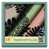 Flocking Fabric Flower Design Upholstery Fabric for Sofa Upholstery
