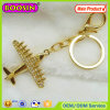 Season Promotional Golden Fighter Jeweled Rhinestone Keychain #18355