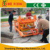 Diesel Engine Concrete Hollow Block Making Machine with Wheels