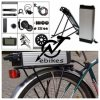 48 Volt 750W MID Motor Ebike Conversion Kit with Lithium Battery