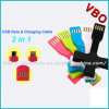 2015 New Flexible USB Data Cable for iPhone, Samsung