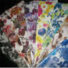 Flower Print Stretch Synthetic Leather Mg31