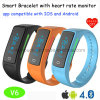 New Developed Smart Bluetooth Wristband/Bracelet with Heart Rate Monitor V6