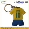 Sport Clothes PVC Key Chain with Key Ring