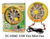 Tire Mini Fan USB Novelty Toy