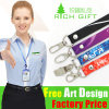 High Quality Belt Custom Logo Printing Lanyards with Bulldog Clip