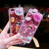 Hot Quicksand Powder Sakura Momoko TPU Phone Case for iPhone5/6/6plus