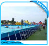 Giant Customize Water Park Metal Frame Pool Swimming Pool with Water Pump