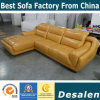 Black Top Grain Leather Sofa with Corner (A849)