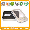 Small Metal Gift Window Tin for USB Disk Packaging Box