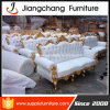 Three Seater Antique White Fabric Sofa (JC-S69)