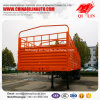 3 Axles Curtain Side Wall Semi Trailer with Rear Door