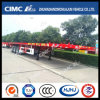 Hot Sale Overseas 40FT 3axle Flatbed Semi Trailer (80tons payload)