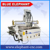 Ele 1325 Pneumatic System Three Spindle Wood CNC Router, Woodworking CNC Router for Door Making