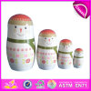 2014 Small Beauty Ceramic Russian Matryoshka Dolls, Wooden Hand Painted Nesting Dolls Custom Matryoshka Dolls Factory W06D033