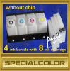 Continue Ink Supply System Use for Large Format Printer 4 Ink Barrels with 8 Ink Cartridge