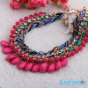 Pink Fashion Design Women Accessories Hot Selling Product Butterfly Acrylic Beads