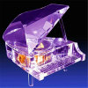 Mini Crystal Piano Music Box for Holiday Gift