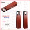Wholesale Cheap Vertical Leather Single Bottle Wine Carrier (5567R1)