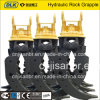 CE Approved Quality Hydraulic Rotary Rock Grapple for 40tons Carrier