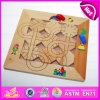 2015 New Wooden Maze Board Toy for Kids, Classic Item Wooden Educational Maze Car Toy, Children Magnetic Maze Wooden Toys W14A110