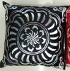 Metallic/Flock Printed Decorative Pillow Metallic Print Cushion (XPL-47)