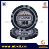 13.5g Clay Eight Stripe Poker Chip with Customize Sticker (SY-E25A)