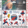 Water Transfer Temporary Spider Rman Tattoo Sticker (cg051)