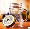 Wholesale Hot Sell Colorful Glass Mason Jar with Handle